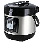 Aobosi 8-in-1 Elektrischer Schnellkochtopf Mehrfach nutzbarer Reiskocher mit 6 einstellbare Druckstufen,Warmhaltefunktion und 24 Stunden Timer Multifunktion |Kochtopf aus Edelstahl 6L/1000W