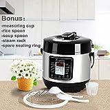 Aobosi 8-in-1 Elektrischer Schnellkochtopf Mehrfach nutzbarer Reiskocher mit 6 einstellbare Druckstufen,Warmhaltefunktion und 24 Stunden Timer Multifunktion |Kochtopf aus Edelstahl 6L/1000W - 8